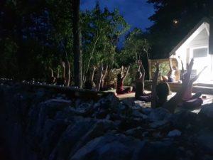 Yoga nocturne au centre de yoga à Beaune