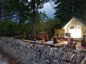 Yoga by night à Beaune